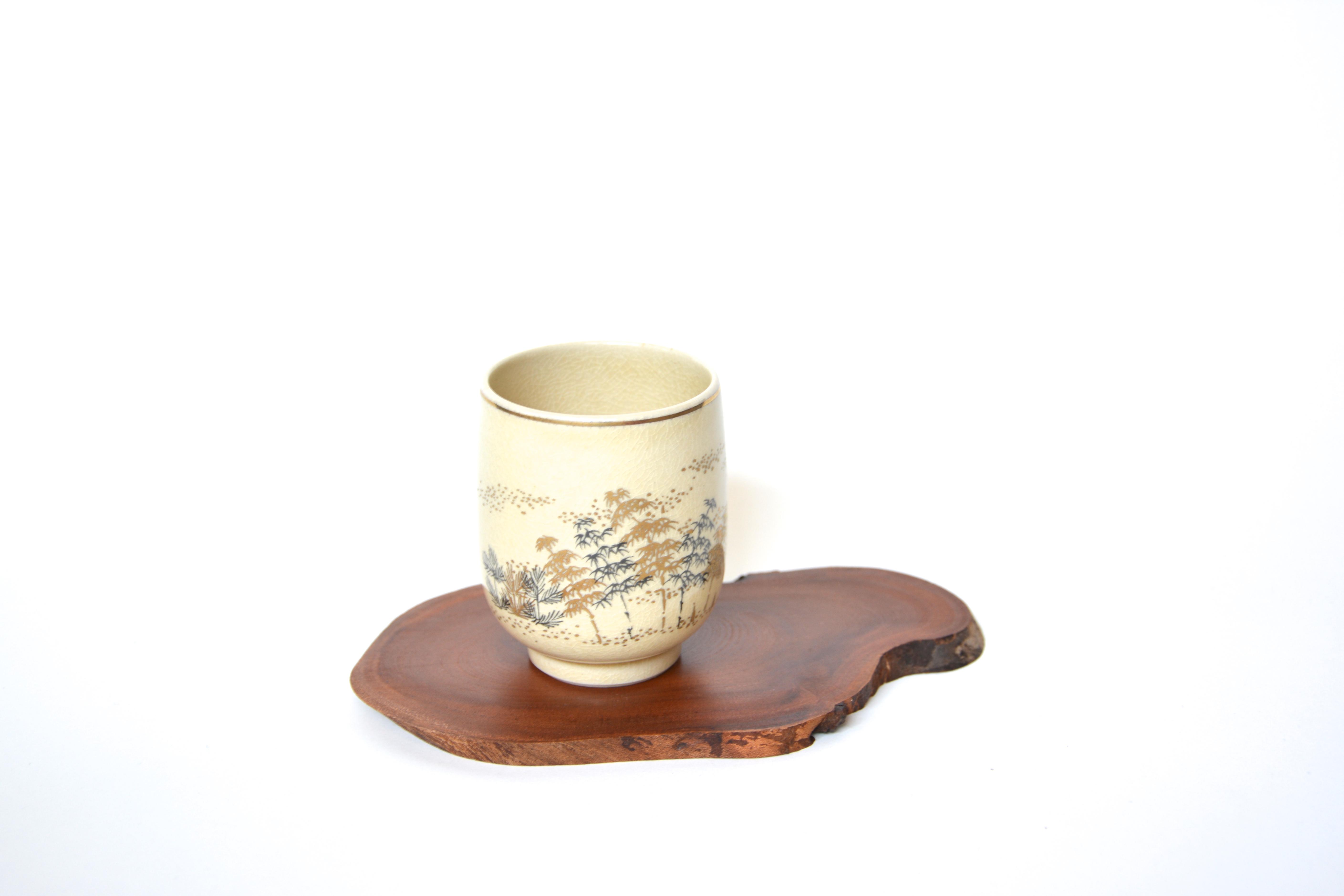 Satsuma-Keramik Teebecher